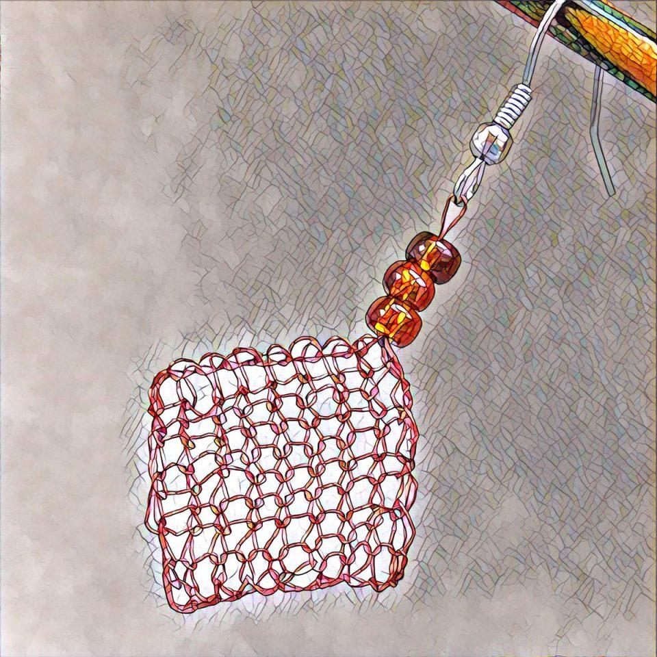 Knit Jewelry - Wire Earrings